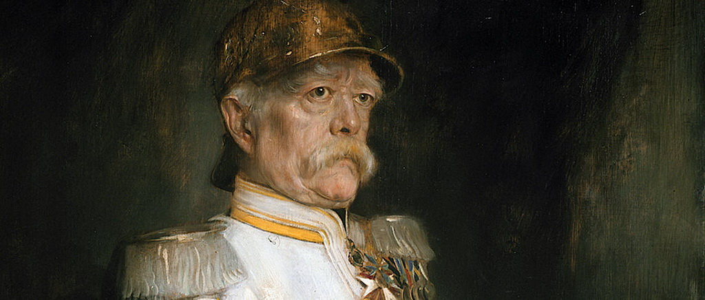 Otto Eduard Leopold, Prince of Bismarck (1815-1898), was a conservative Prussian statesman who introduced the welfare state (Franz von Lenbach via Wikimedia)